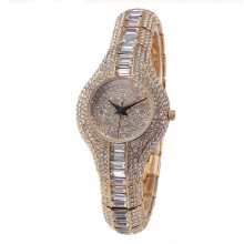 Luxury Pure Rhinestone Crystal Small Dial Watch