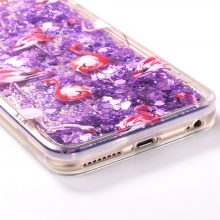 Glittery Quicksand Flamingo Phone Case for iPhone