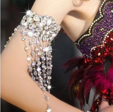Women's Shiny Armband with Crystals