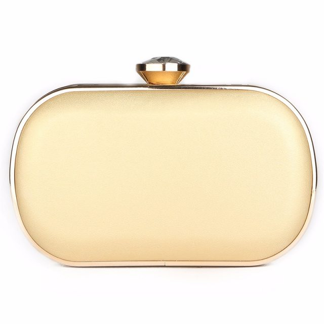 Women's Gold Crystal Evening Small Clutch