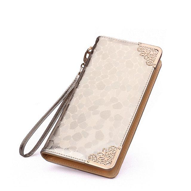Women's Long Shiny Metallic Wallet