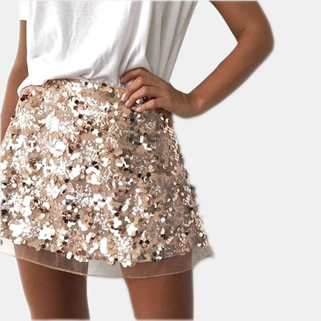Women's Sequin Mini Skirt