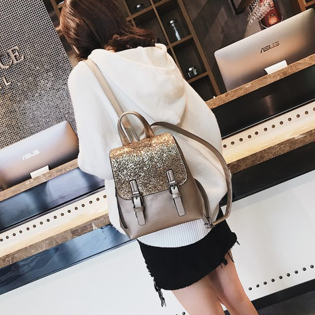 Women's Fashion Sequins Backpacks