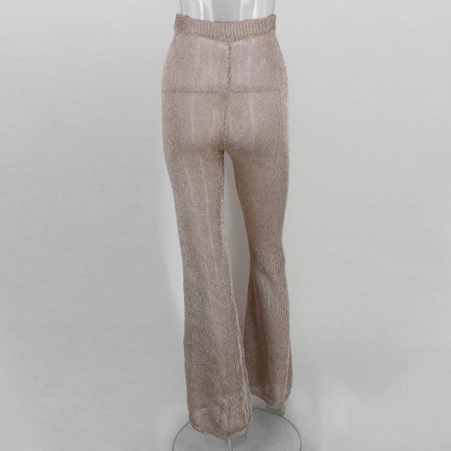 Women's Flare Glittery Pants