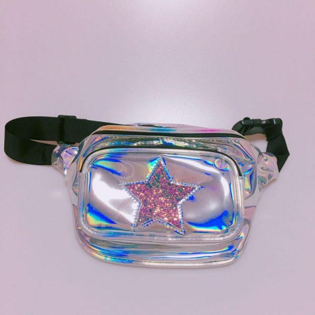 Shiny Star Holographic Waist Bag