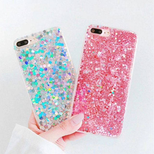 Holographic Glitter Powder Case for iPhone